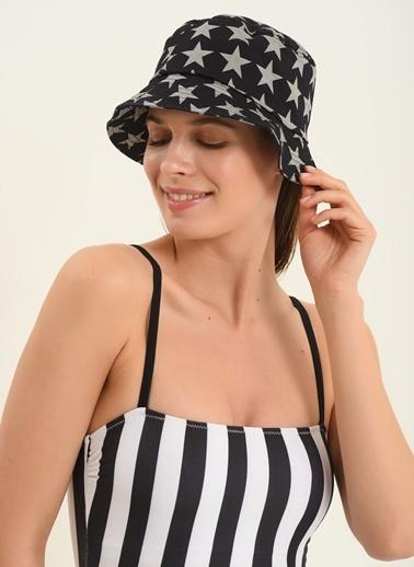 Morhipo Beach Kadın Yıldız Desenli Şapka MBKSS21SP0003 Lacivert